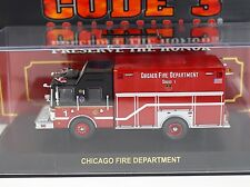 Code 3 Chicago FD Squad 1 Fire Truck 1:64 Diecast 12643