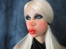 SEXY KISSING MOUTH MASK / KUSS-MUND MASKE Effekt Latex Rubber Frauenmaske Female