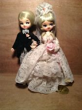 Vintage Bradley Dolls NWT Wedding Couple - Bride & Groom w Tag