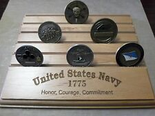 Military Challenge Coin Holder/Display 8x10, United States NAVY