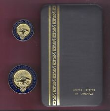 US United States Cyber Command Staff Badge set of badges showing Eagle  in case
