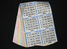 BINGO PAPER Cards Kit, 6 on 18 up, Blue rotation 20 packs FREE PRIORITY SHIP