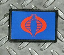 Cobra Blue Tactical Hook Military Morale Patch GI Joe Cosplay Comicon USA Made