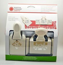 New MARTHA STEWART CRAFTS WINTER SNOW Punch Around the Page Snow Flakes Holiday
