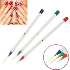 3teiliges Schlepper Pinsel Spitzpinsel Nail Art Striper Nagel Design UV-Gel ME