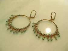 NWT ~ La Vie Parisienne/Catherine Popesco Gold Pacific Opal Earrings 9682BG