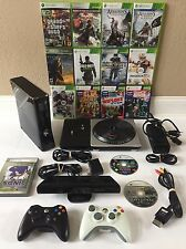 Microsoft Xbox 360 S with Kinect 250GB Glossy Black Console (NTSC) W/ 15 Games