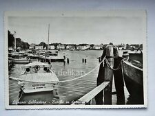 LIGNANO SABBIADORO barca Storione darsena motoscafo Udine vecchia cartolina