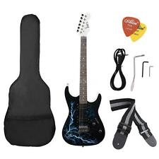 Dual Pickups Electric Guitar Basswood Body Cool Design with Gig Bag Strap W Z5F6