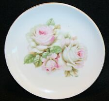 Vtg  Bread Dessert PLATE cabbage rose GERMANY Shabby Cottage Chic PINK