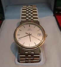 Preowned 1970-80S Omega Swiss Quartz 6 Jewel Gold-tone Watch Case w. Fitted Band