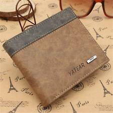 Slim Men's Mens Leather Wallet ID Credit Card Holder Money Purse Clutch Pockets