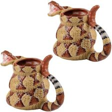 NEW (Set of 2) Rattlesnake Coffee Mugs - The Craig Ferguson Show Ceramic Cups