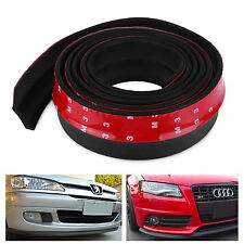 Universal Car Lip Skirt Protector Front Bumper Spoiler Side Rubber Splitter 2.5M