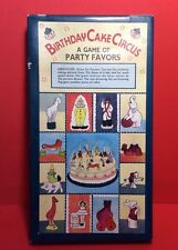 Birthday Cake Circus Porcelain Toppers Vintage Set Of 12 New Old Stock