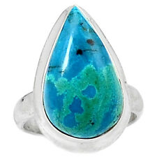 Chrysocolla - Peru 925 Sterling Silver Ring Jewelry s.7 CCPR39