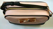 BNWT Victoria's Secret Pink Black Handbag Purse adjustable/detachable strap cute