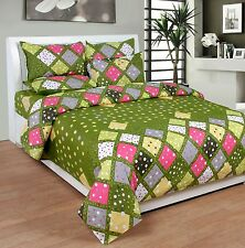 SYK Pure Cotton Double Bedsheet,Bedcover,Bed sheets with 2 Pillow Cover (021)