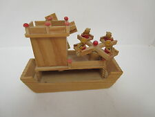 Wooden Music Box with Moving Ride and Windmill Best Wishes to you
