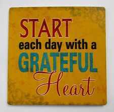 t Start each day with grateful heart LICENSE PLATE GENERAL METAL MAGNET