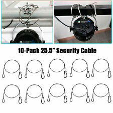 """10-Pack 650mm 25.5"""" Steel Wire Safety Security Cable F Moving Head Par DJ Light"""