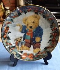 Teddy's Winter Fun Franklin Mint Ltd Ed Plate by Sarah Beugry with Hanger GA5463