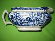 "Vintage Wood & Sons Blue & White ""The Post House "" Ironstone Gravy Boat"
