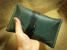 Tarot cards leather pouch case holder bag Rider Waite universal size deck Green