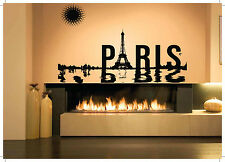 Wall Room Decor Art Vinyl Sticker Mural Decal Eiffel Tower Paris Large AS1352