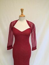 Ladies St. John Evening Sexy Red Lace Gown With Jacket-Size 4