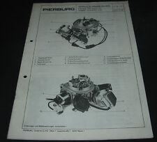 Service Anweisung Opel Rekord 18 S Pierburg Vergaser Ecotronic 2EE 04/1984