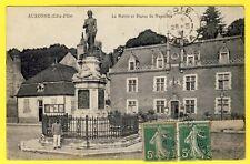 cpa Bourgogne AUXONNE (Côte d'Or) La MAIRIE Statue de NAPOLÉON Poste de Police
