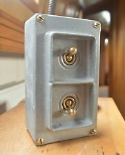 Vintage Galvanized 2 Gang Light Switch Nice Click Industrial