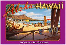 10 Postcard Set - Vintage Hawaiian Art - Aloha Hawaii