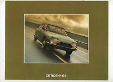 CITROEN GS - ORIGINAL 1973 UK SALES BROCHURE