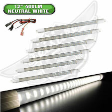 "6x RV LIGHT BULB T5 12"" fluorescent tube replacement LED 400 Lumen Natural White"