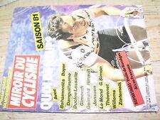 ¤¤ Miroir Cyclisme n°296 Poster Vandenbroucke / Saison 1981 Guimard Willems ...