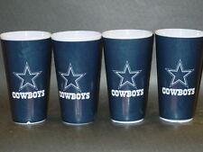 NFL, Set of 4 Plastic Tumblers, Dallas Cowboys, NEW