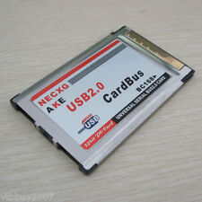 Laptop 2 Port USB 2.0 PCMCIA CardBus 480M Card Adapter + USB cable