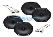 ROCKFORD FOSGATE F-150 250 350 TRUCK STEREO FRONT AND REAR SPEAKERS W HARNESS