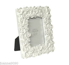 GISELA GRAHAM WHITE VINTAGE ROSES ROSEBUD FLOWER PICTURE PHOTO FRAME HOME GIFT