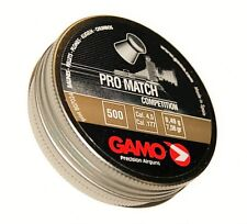 GAMO PRO MATCH COMPETITION 4.5 mm cal. .177 500 pcs. Air rifle Airgun pellets