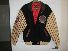 JH Design Mens Size L COCA-COLA SONIC Cotton / Leather Jacket Baseball