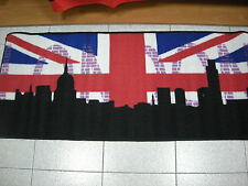 Tappeto antiscivolo Londra London color nero cm 57x230 color beige rosso blu