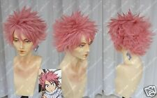Fairy Tail Natsu Dragneel Anime Costume Cosplay Wig  +Wig CAP +Free Track Number