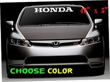 honda logo Windshield  car Decal Vinyl Sticker Race honda Window Banner