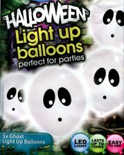 Halloween Ghost Illoom Balloons, pack of 5 spooky light-up LED balloons