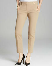 NWT $190 THEORY TESTRA Khaki Beige Tan Fostered Stretch Cotton Pants - Size 6