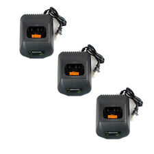 3Pcs Battery Charger for Kenwood TK2207/2307/3201/3207 TK -3207G/3202P Radio ON