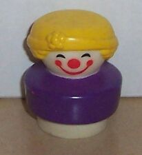 Vintage 90's Fisher Price Chunky Little People Clown figure #2373 FPLP